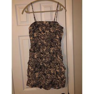 NWT smocked Nordstrom leopard dress